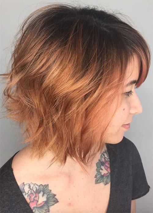 Beautiful Short Bob Hairstyles and Haircuts with Bangs